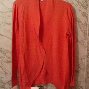 Merona gorgeous coral colored sweater cardigan.
